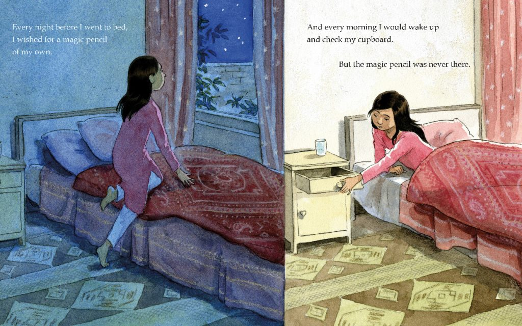 beautiful illustrations of Malala Yousafzai childrens book by Kerascoet