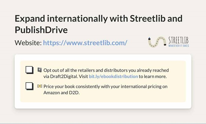 Ebook distribution | Expand internationally with Streetlib and PublishDrive