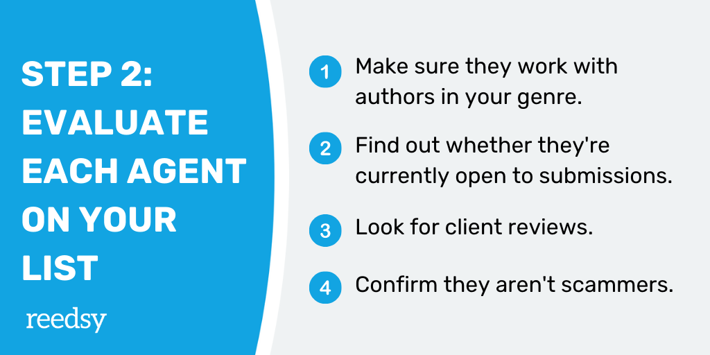 How Find a Literary Agent | Step 2