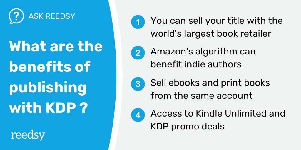 Guide to KDP | The benefits of publishing with KDP