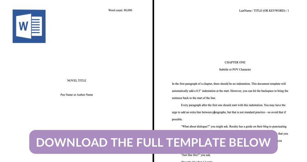 Manuscript Format Template