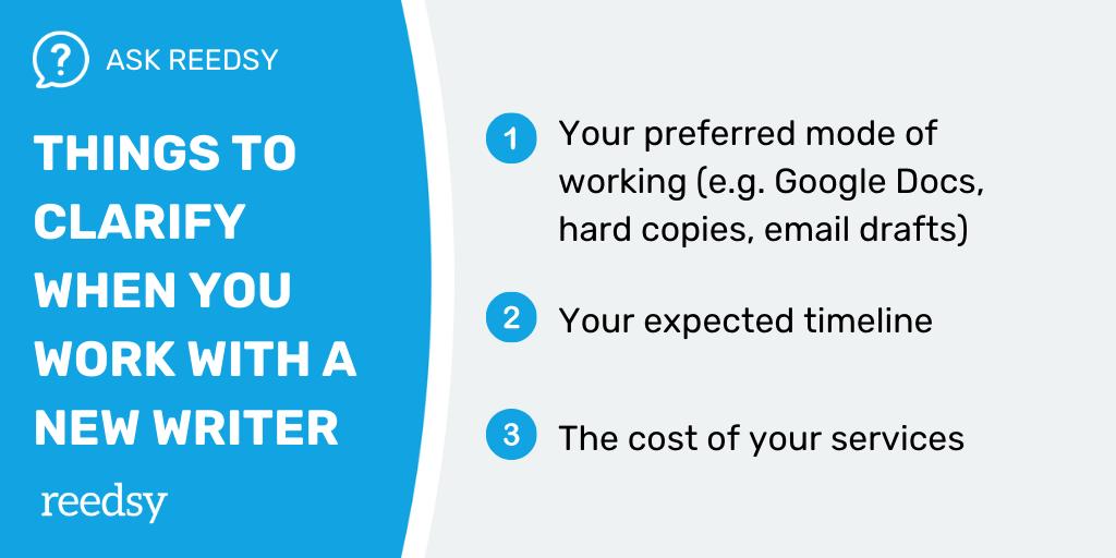Freelance Editor | Things to clarify