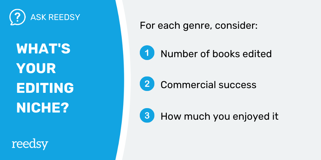 Freelance Editor   What's your niche?