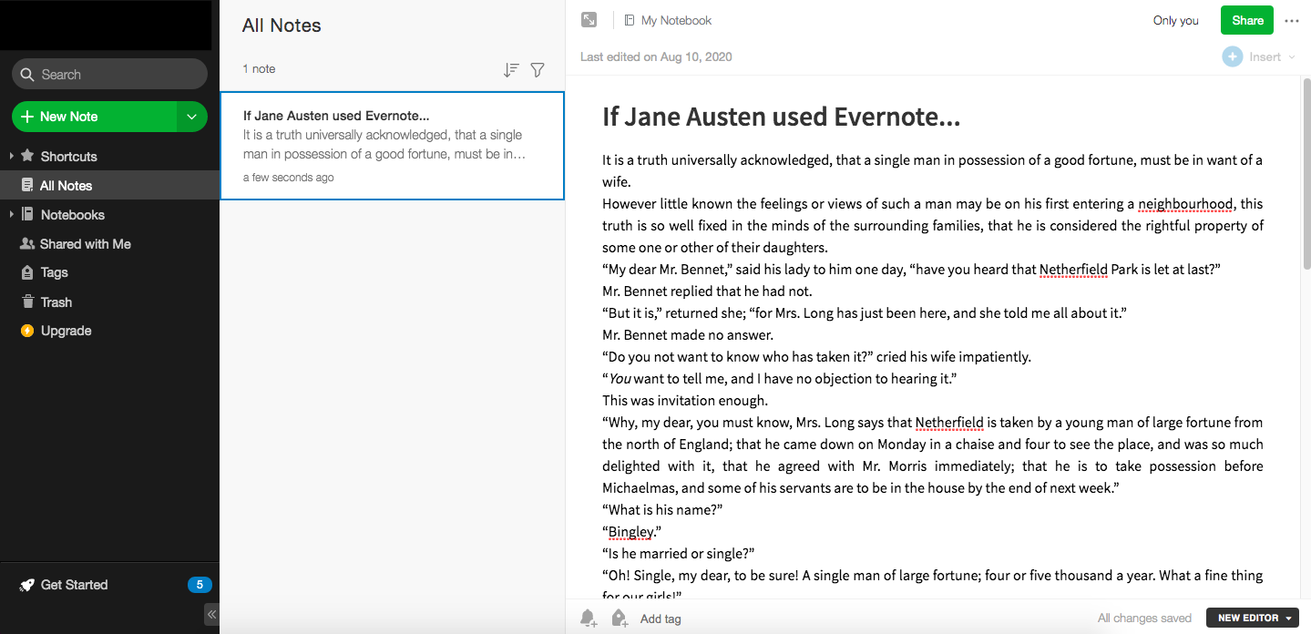 Novel/Book Writing Software   Evernote