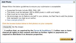 Amazon Author Central   Adding Photos