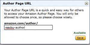 Amazon Author Central   Customizing URL