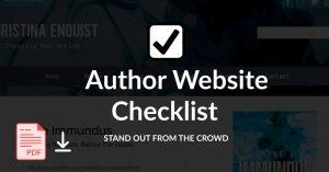 author website checklist