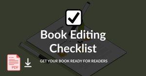 the book editing checklist image