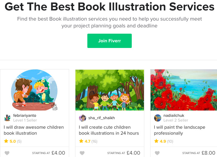 children's book illustrator jobs fiverr