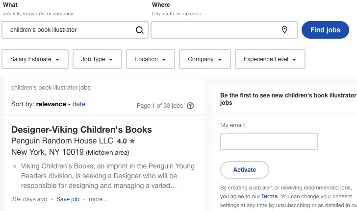 children's book illustrator jobs on indeed