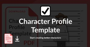 character profile template graphic