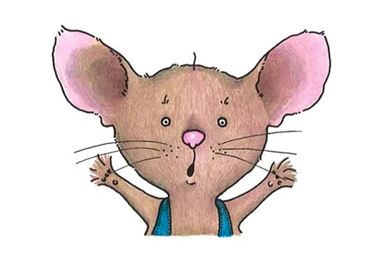 a mouse drawn by children's book illustrator felicia bond