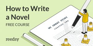 how to write a novel free course graphic by reedsy