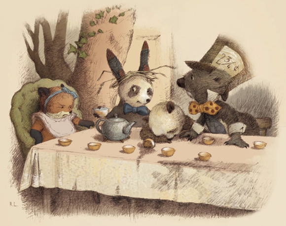 a tea party by illustrator renata liwska