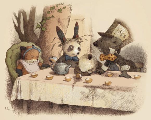 a tea party by illustrator renata liwska