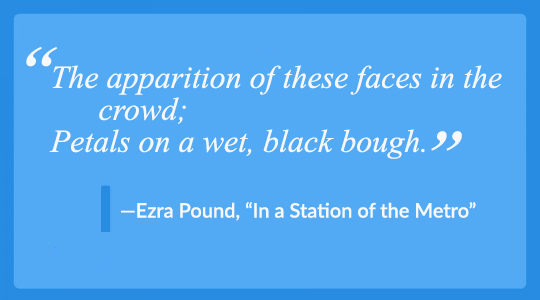 How to Write a Poem | Ezra Pound's two-line poem is a masterclass in using everyday language in verse