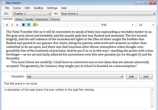 writing apps ywriter