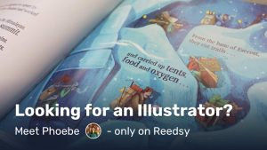 looking for an illustrator? its easy on reedsy - meet phoebe one of our freelancers