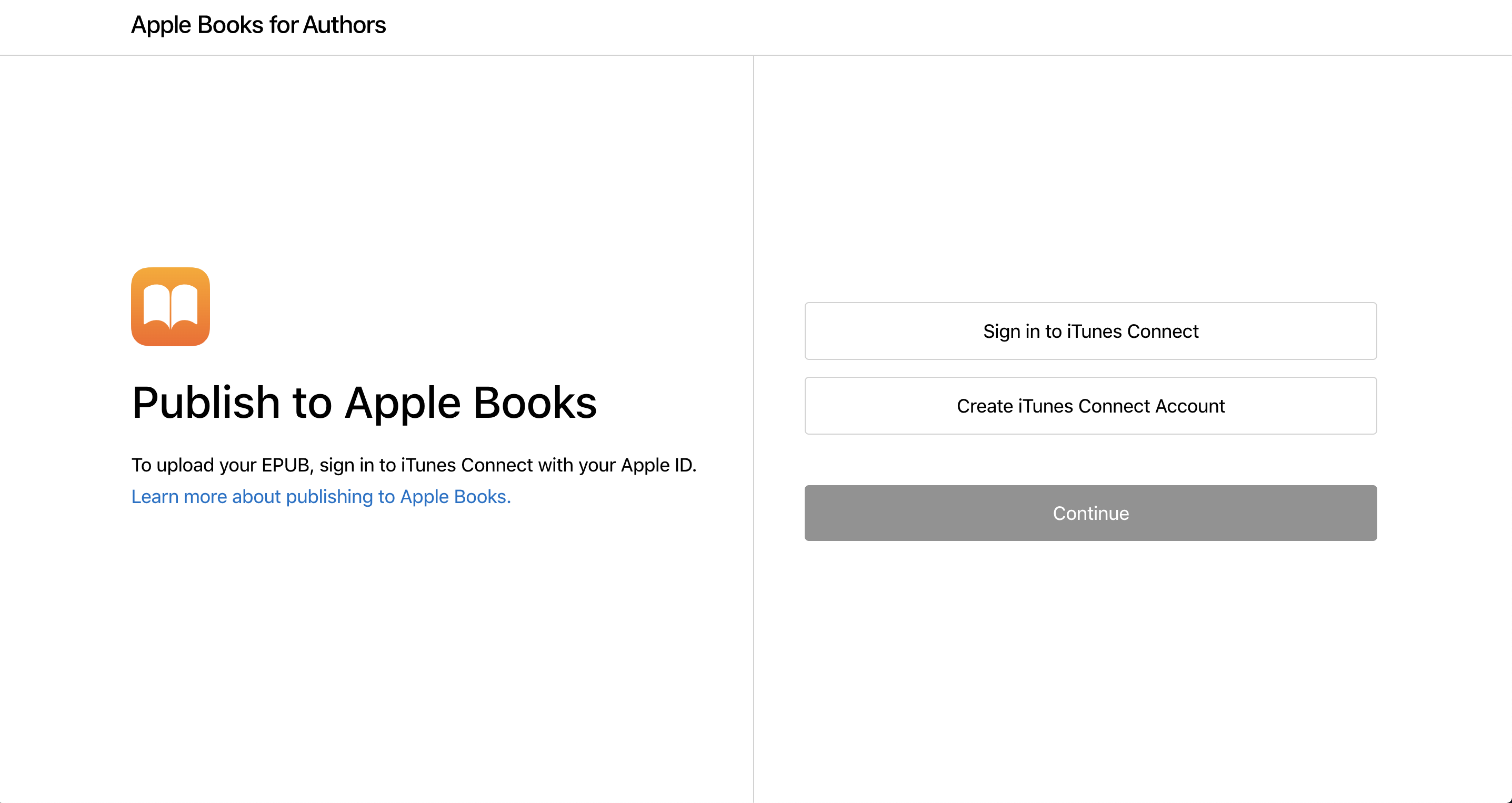 Apple Books for Authors Sign In