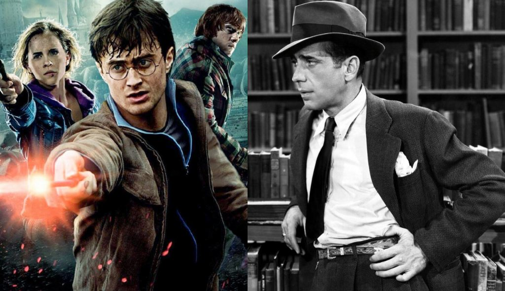Harry Potter and Philip Marlowe are good examples of book series