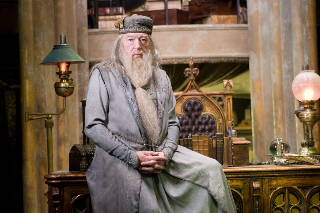 Albus Dumbledore round and static character example