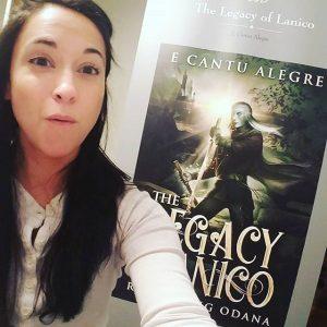 Picture of Maria E Cantu Alegre at her book launch