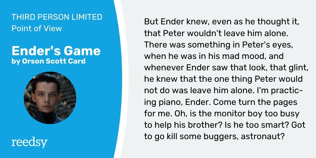 Limited point of view example | Ender's Game