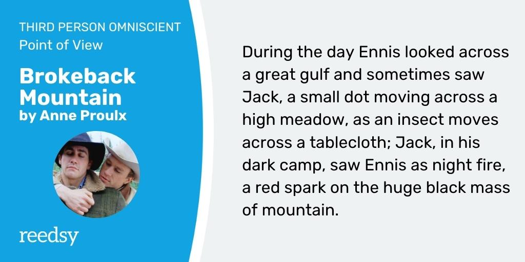 Omniscient point of view example | Brokeback Mountain