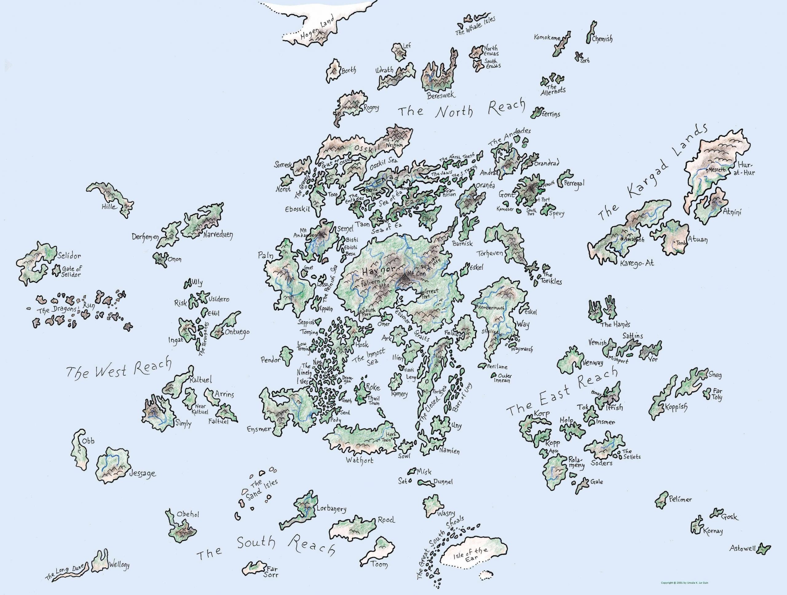 setting map - earthsea