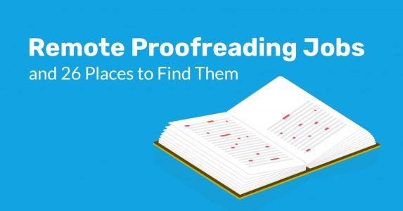 Remote Proofreader Jobs