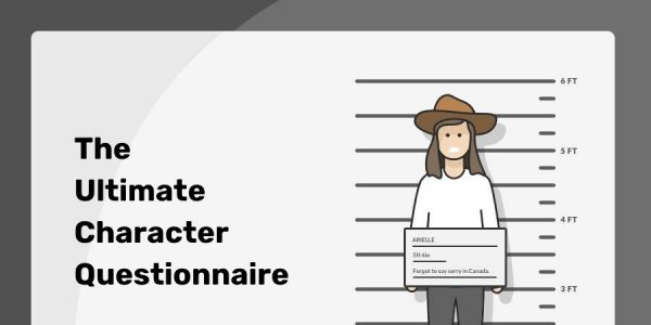 Character Questionnaire - header image reading The Ultimate Character Questionnaire